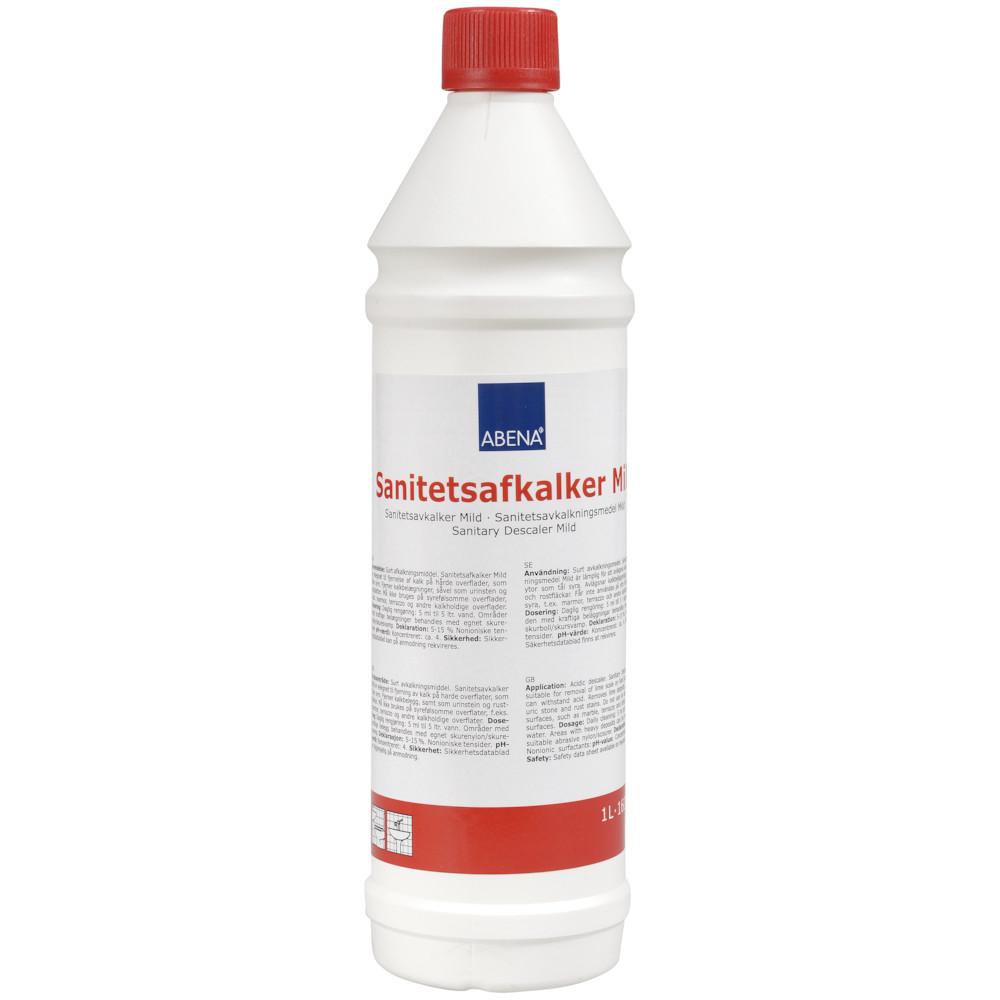 Sanitetsafkalker, mild, uden farve og parfume, 1 l