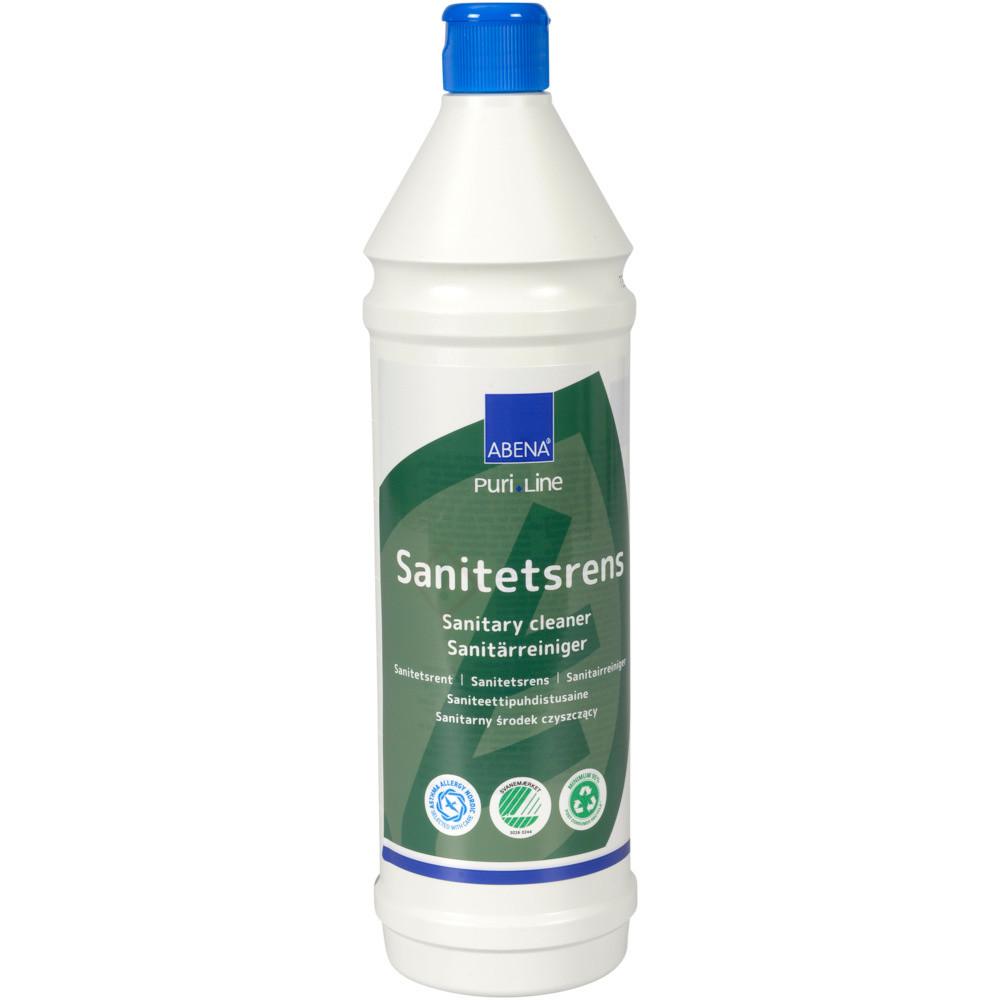 Sanitetsrens, Abena Puri-Line, 1 l, alkalisk, uden farve og parfume