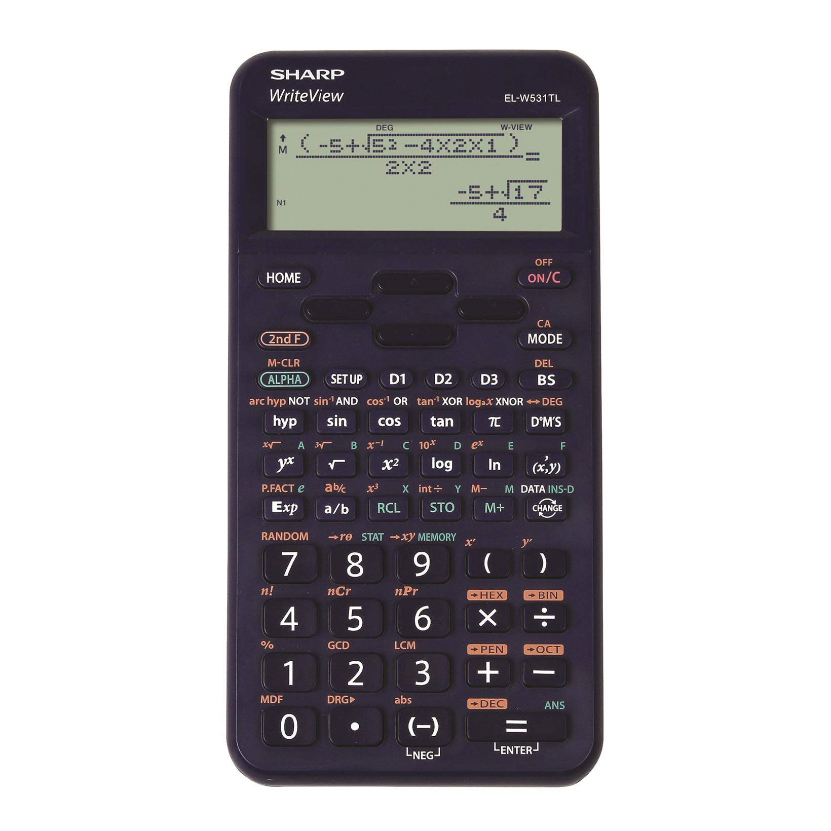 Sharp scientific calculator EL-W531TL mørke blå
