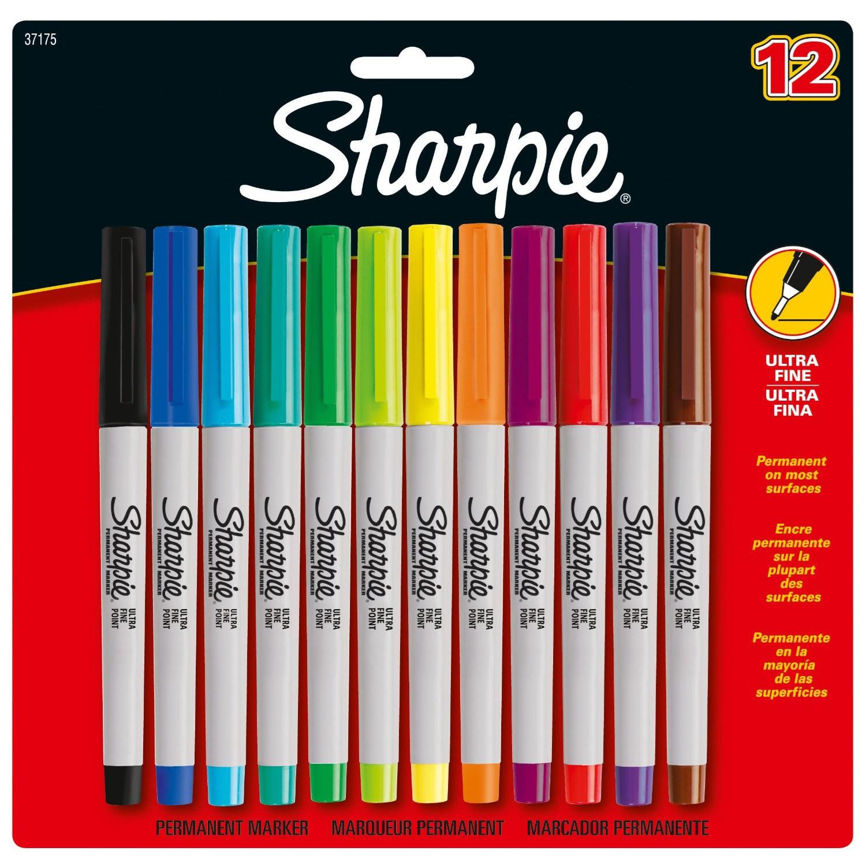Sharpie Ultra Fine Point Permanent Markers - Sæt med 12 stk