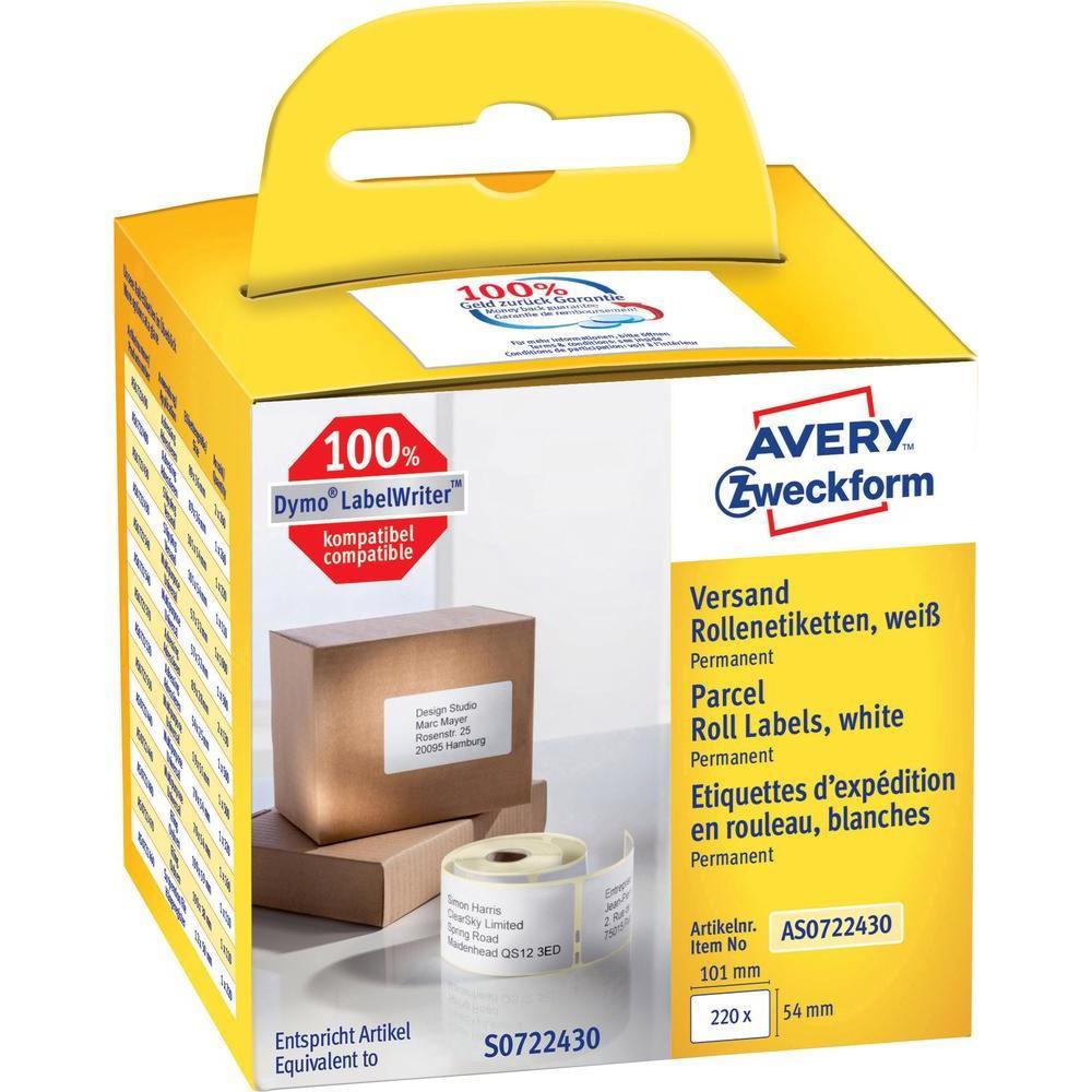 Avery AS0722430 - Forsendelsesetiketter til etiketprinter - 220 stk