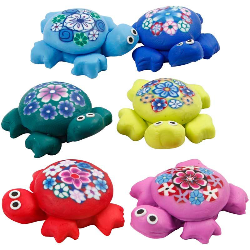 Skildpadder, L: 25 mm, ass. farver, 60ass.