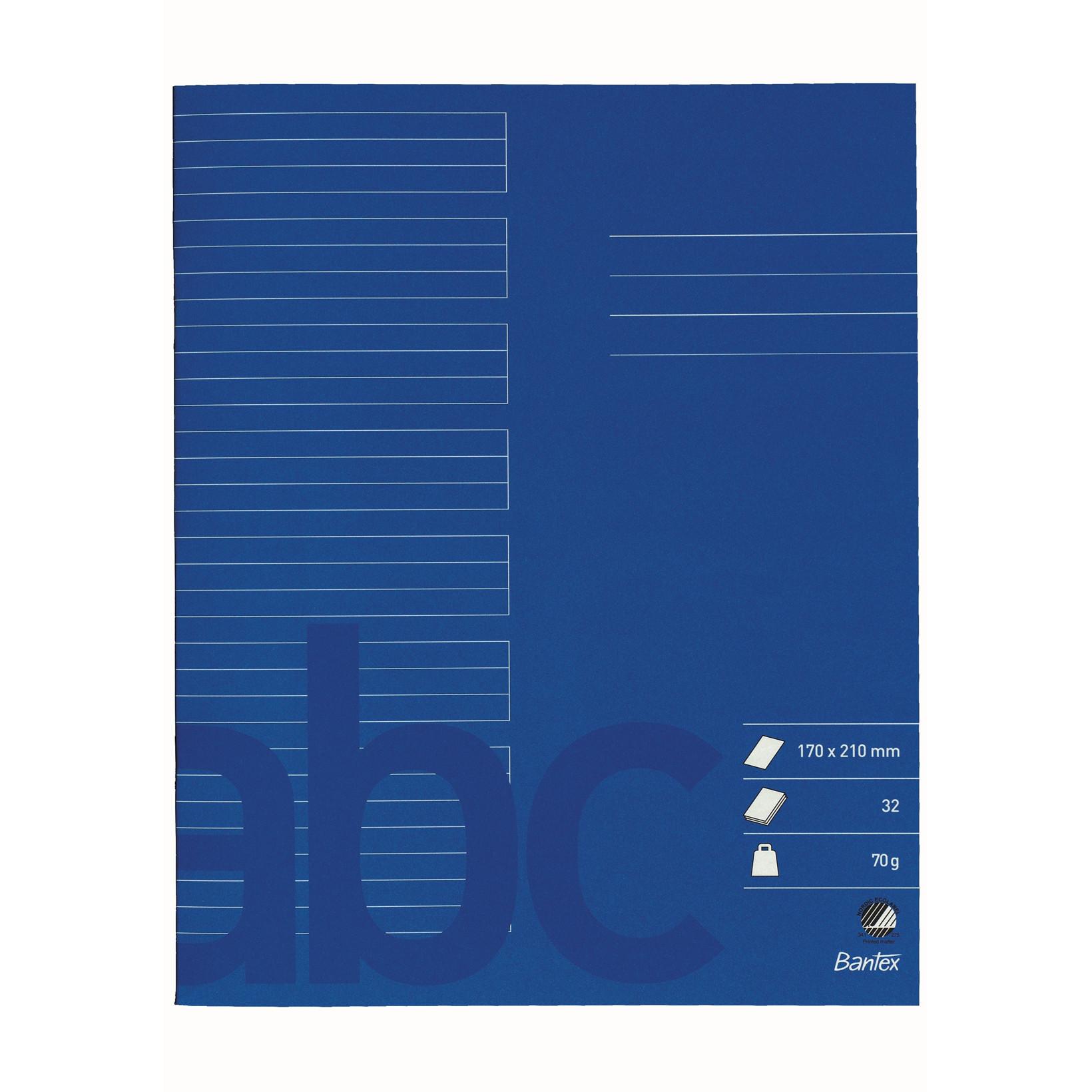 Skolehæfter Bantex 17 x 21 cm - Koboltblå linjeret med 24 linjer - 32 sider