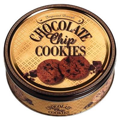 Småkager, Kelsen, Chocolate Chip Cookies, blik dåse,