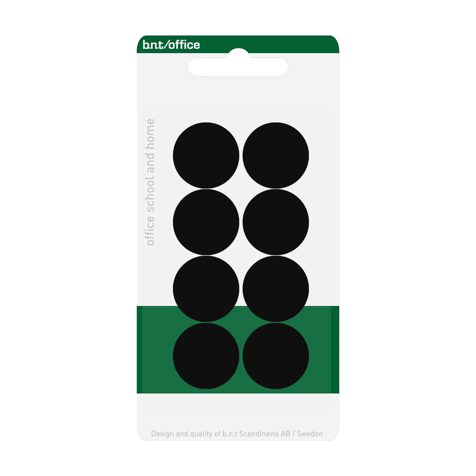 Sorte magneter - BNT runde Ø 2 cm - 8 stk.