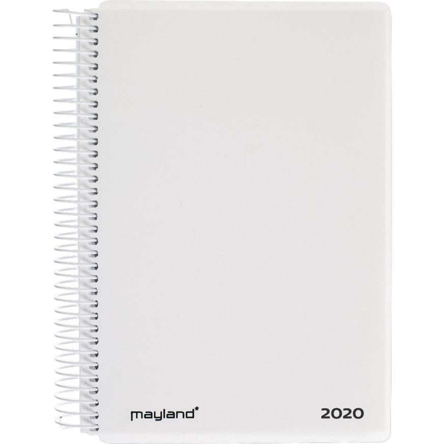 Spiralkalender hvid PP 12x17cm 1 dag/side 20 2100 10