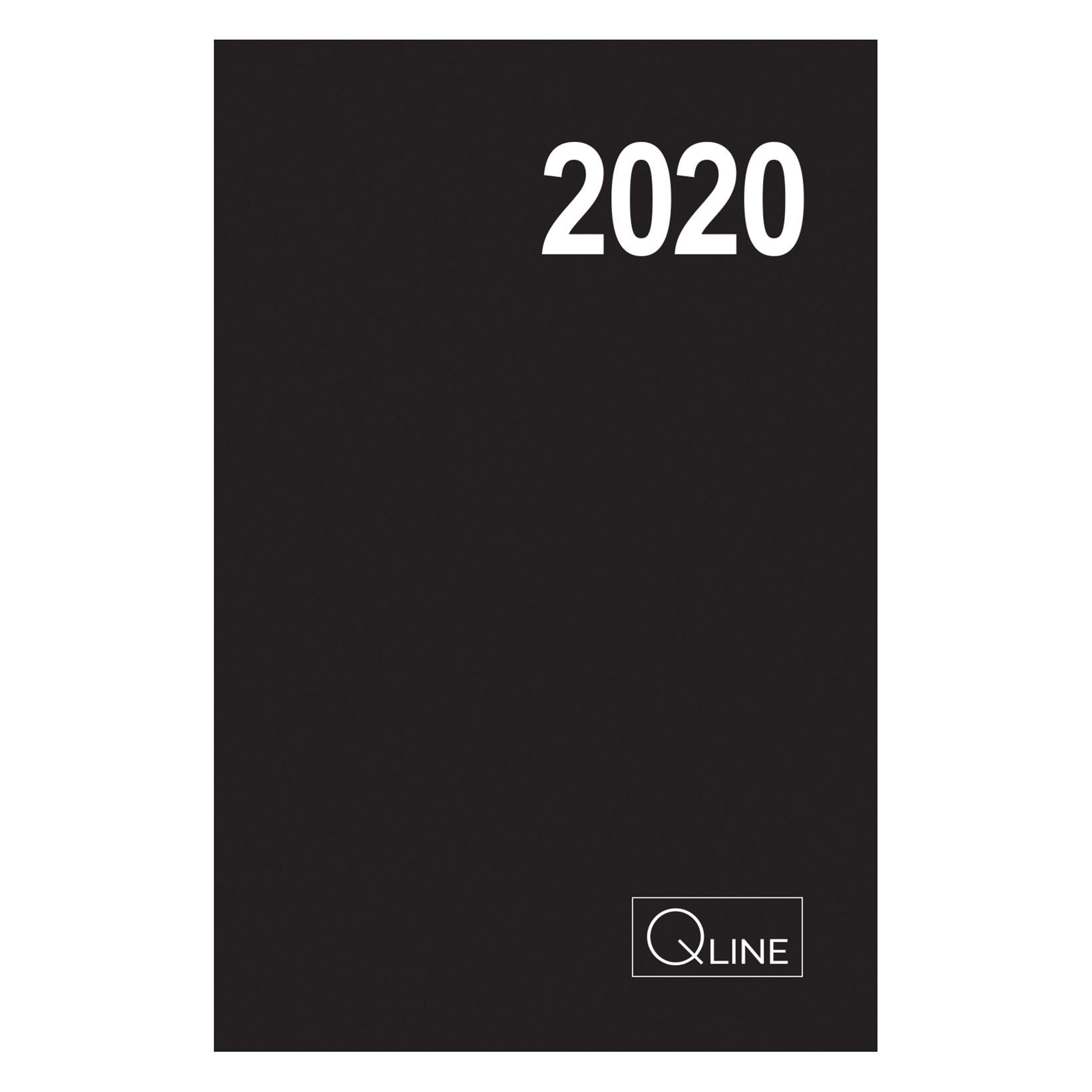 Spiralkalender Q-line 2020 12x17cm 1dag per side 20 2111 00