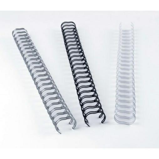 Spiralrygge Fellowes 3:1 wire 6mm hvide A4 100stk/æsk