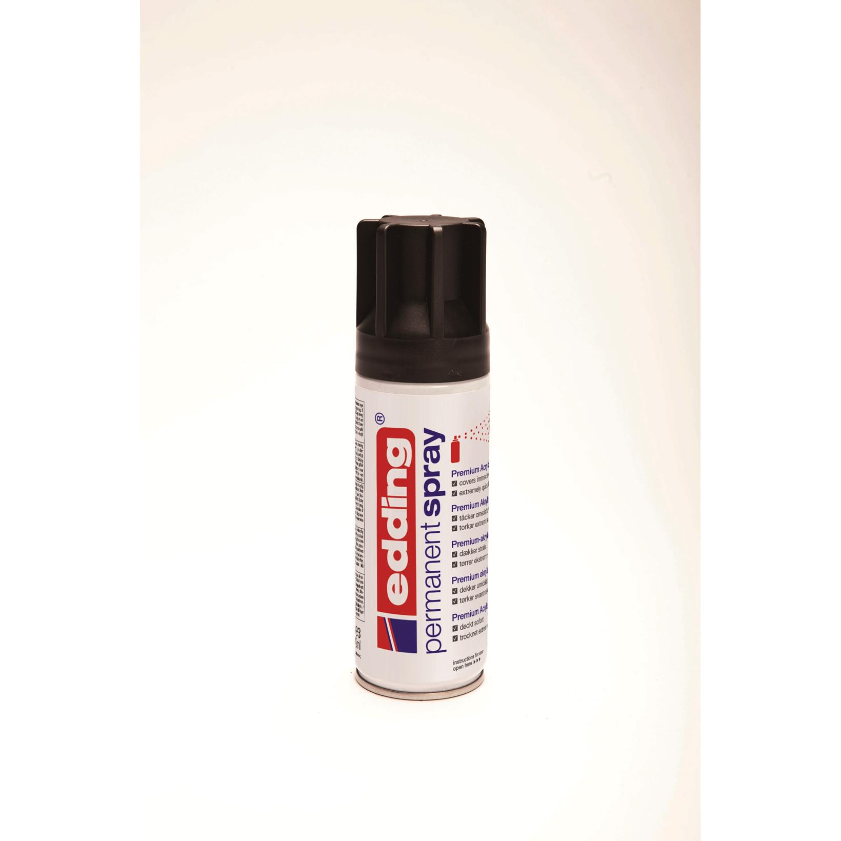 Spray Edding i sort - 200 ml i dåsen