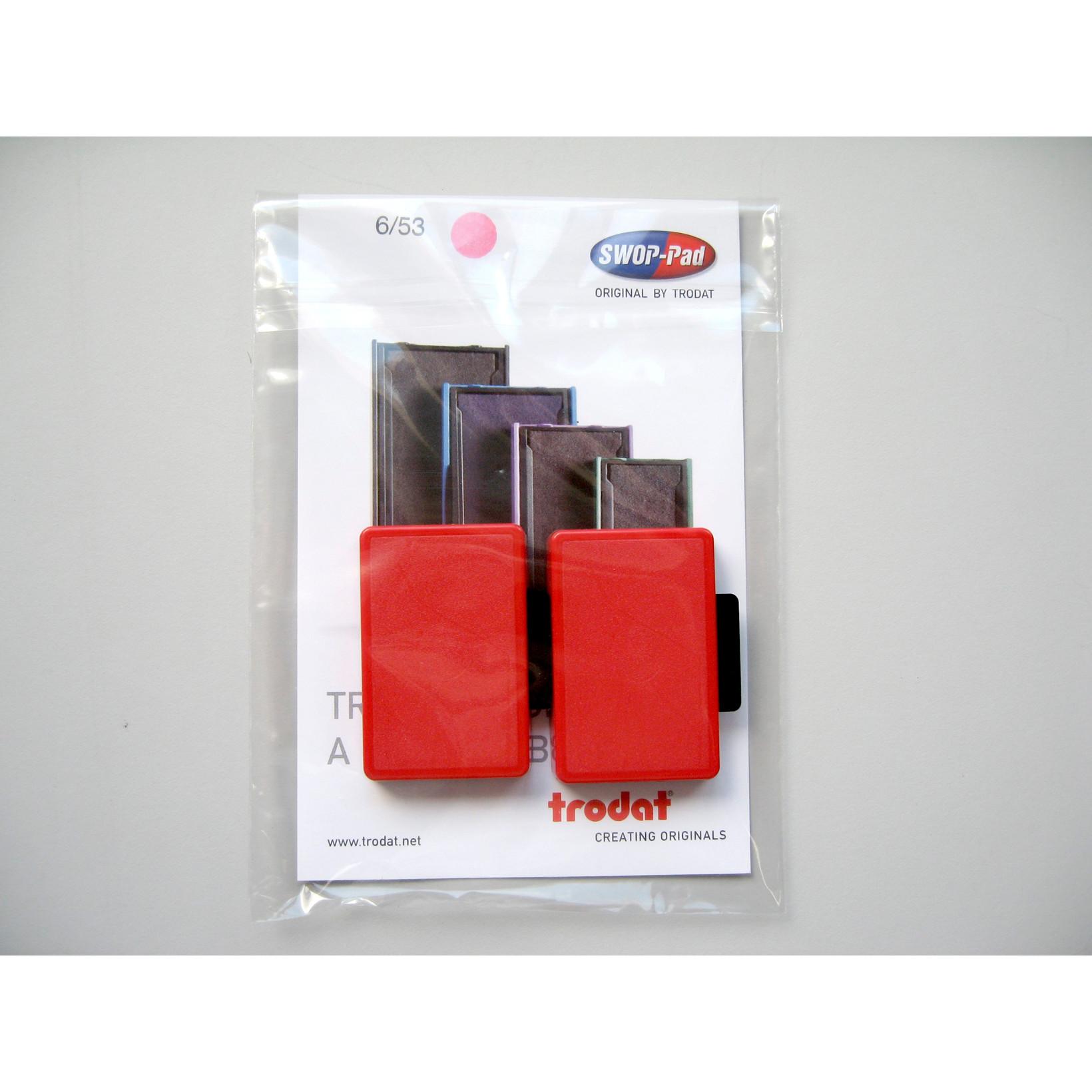 Stempelpude Trodat rød 2-pack 5204,5206,4206,4460 m.fl 6/56