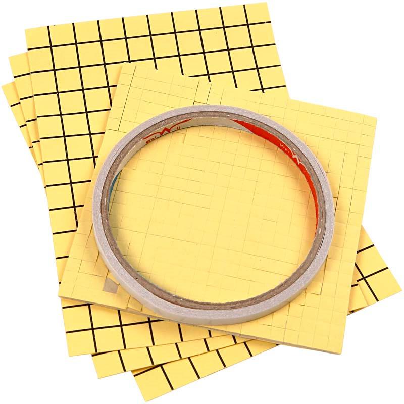 Sticky Pack - dobbeltklæbende tape, 3D puder og dobbeltklæbende folie