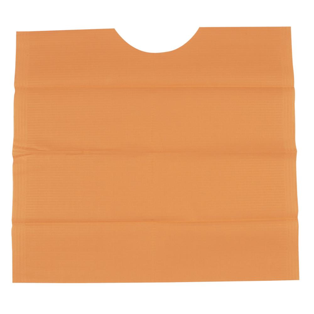 Tandlægeserviet, orange, protect ekstra, med halsudskæring, 3-lags, 41 cm x 45 cm