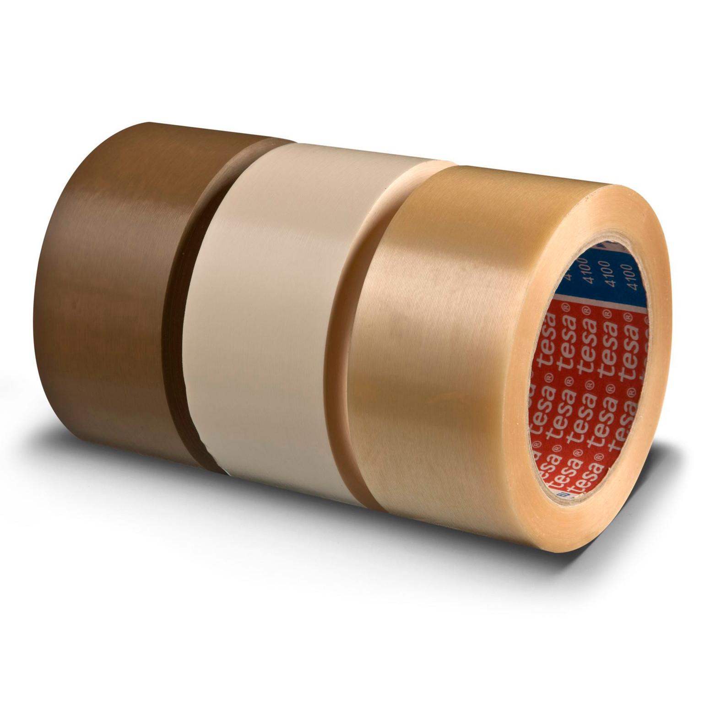 Pakketape Tesa PVC rillet klar 4100 - 48 mm x 66 m