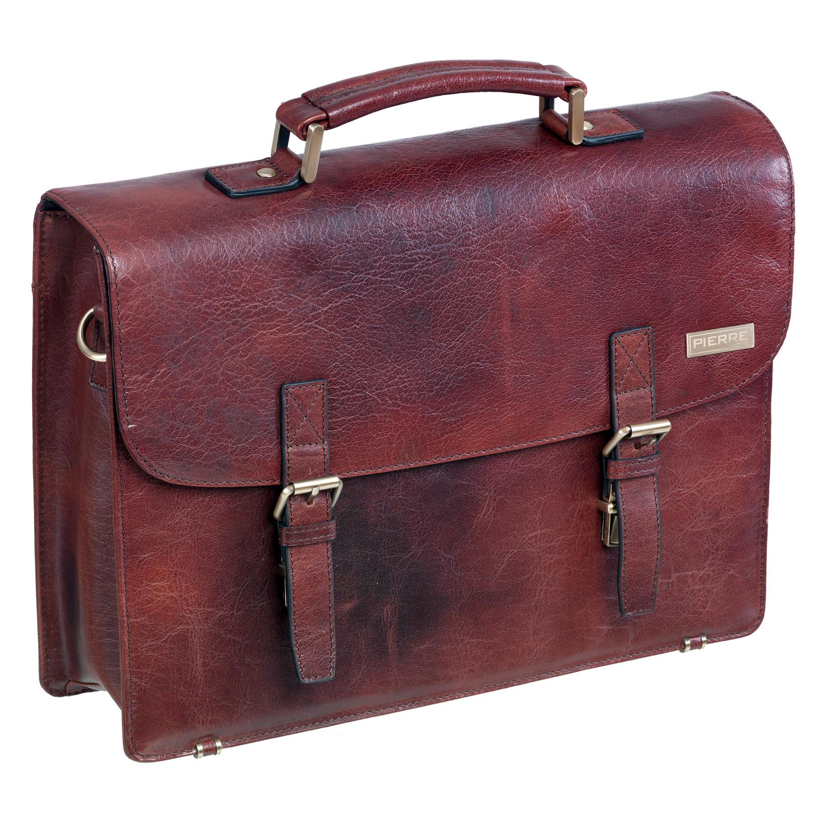 Taske Pierre Briefcase 2 Tonet brun/sort