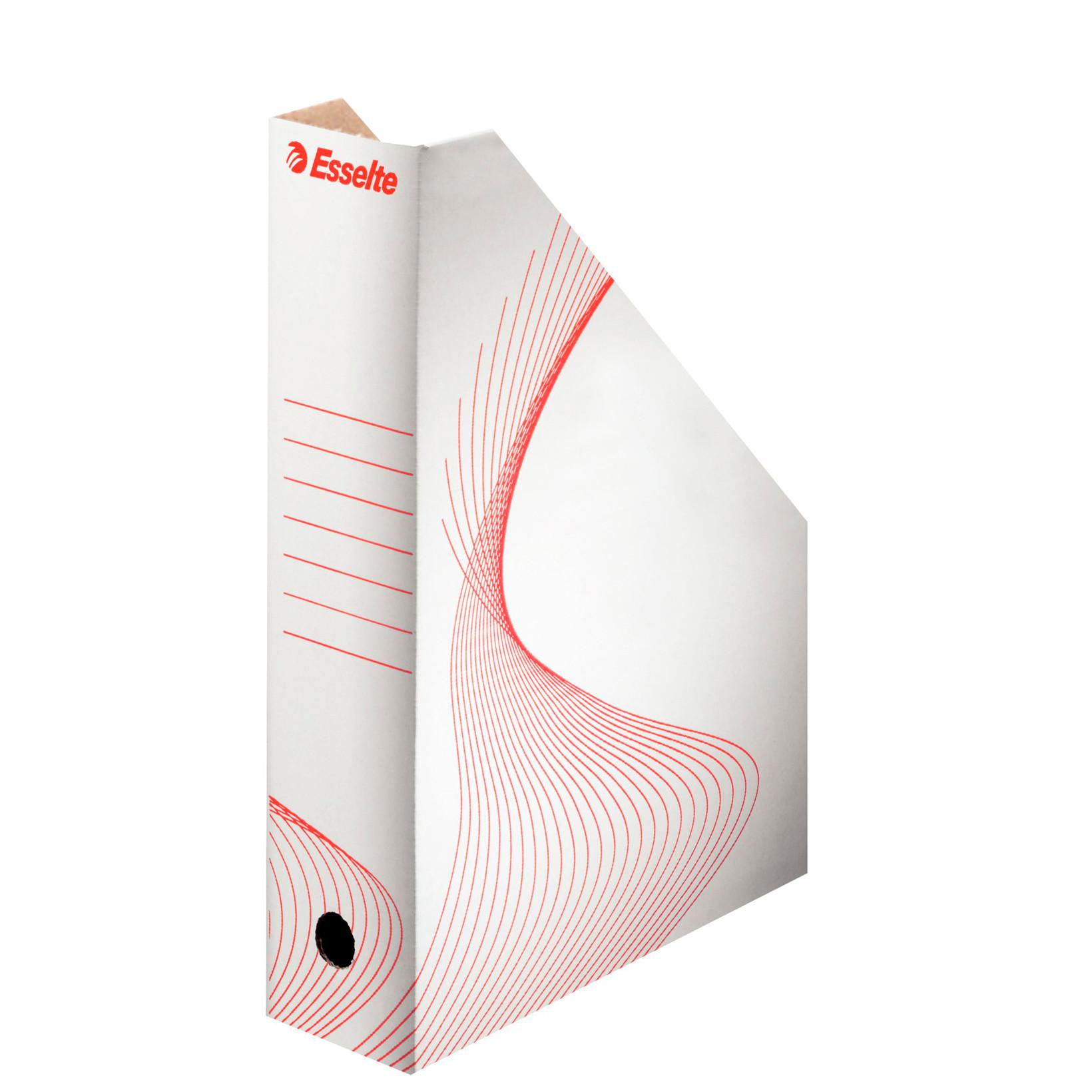 Tidsskriftkassette A4 Esselte hvid pap - 80 mm ryg