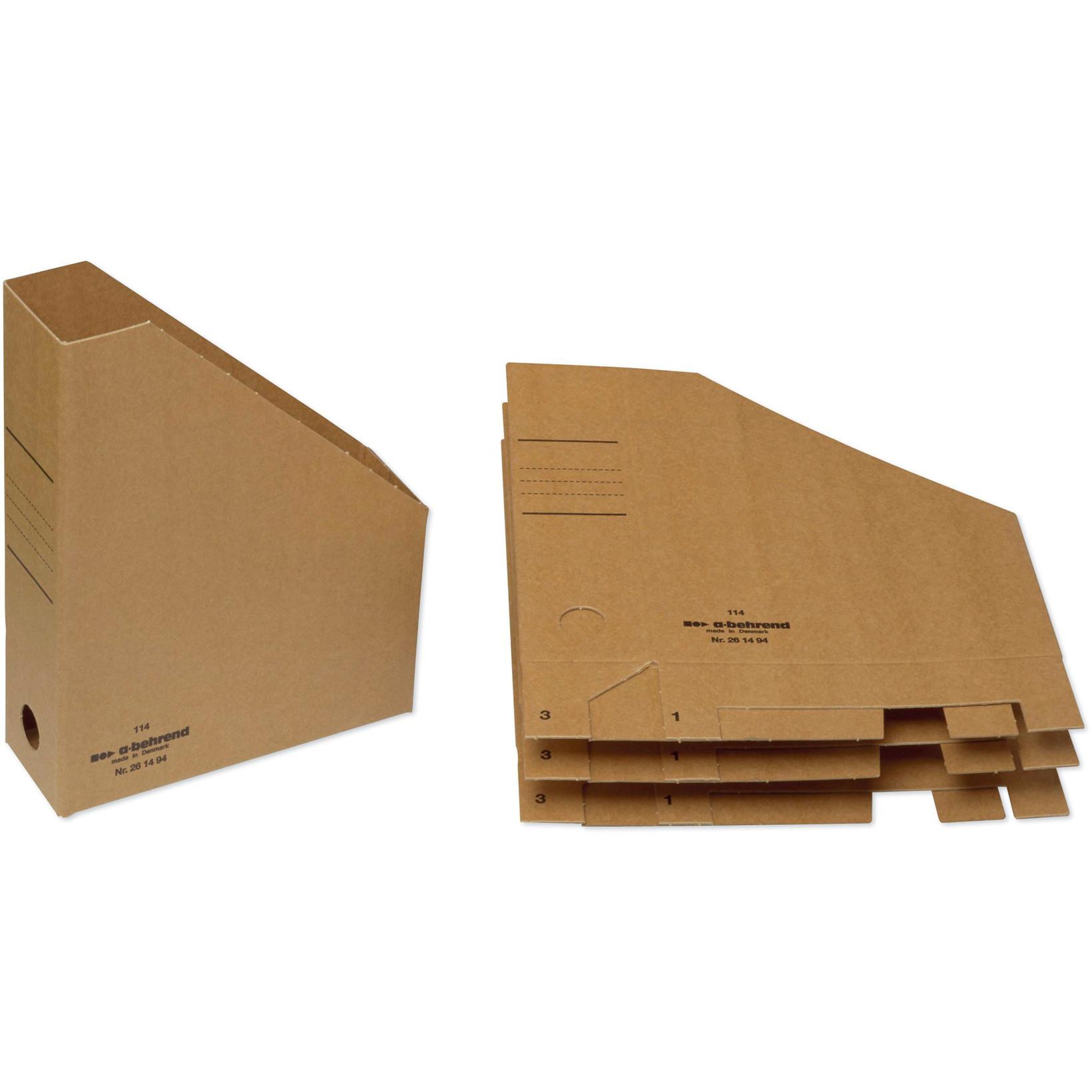Bantex tidsskriftholder A4 med 75 mm ryg - Brun pap