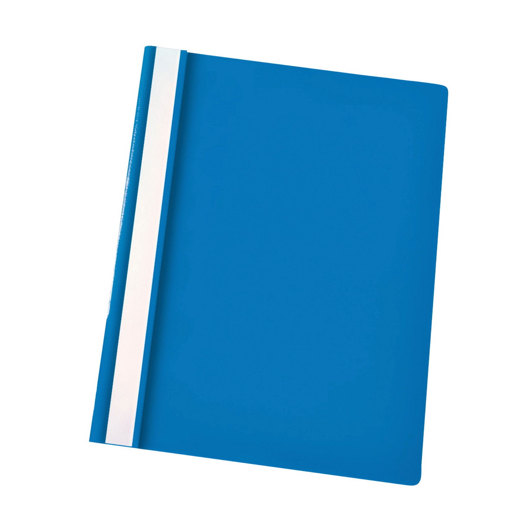 Centra A4 tilbudsmappe med split og overligger - blå med klar forside