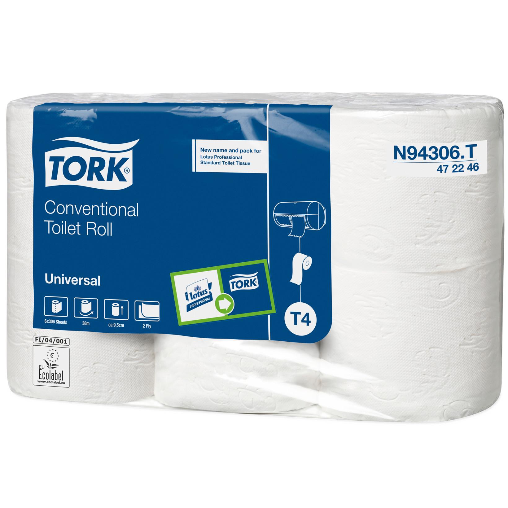 Tork N94306 Standard Toiletpapir 2 lags natur 38 meter - 42 toiletruller