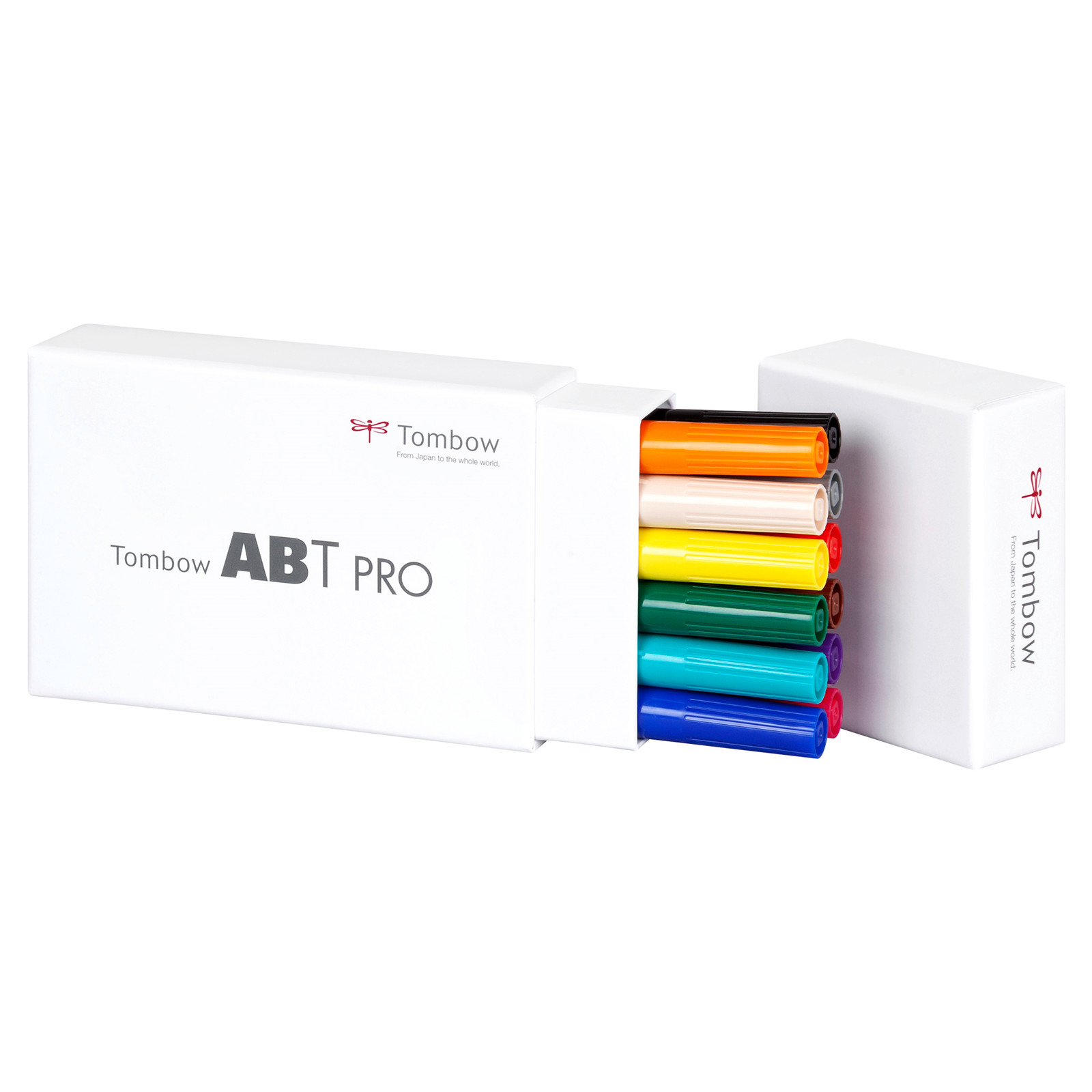 Tombow Marker alcohol-based ABT PRO Dual Brush 12P-1 basic colours