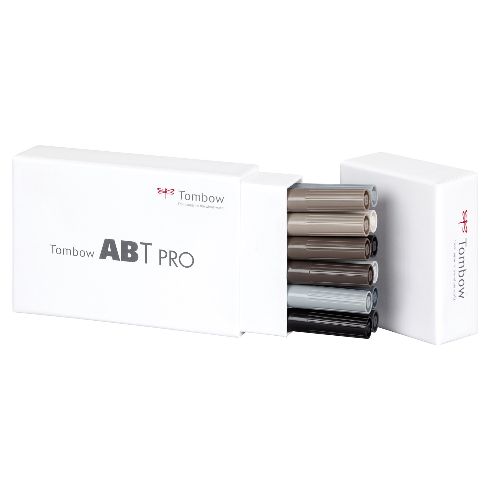 Tombow Marker alcohol-based ABT PRO Dual Brush 12P-3 grey colours (