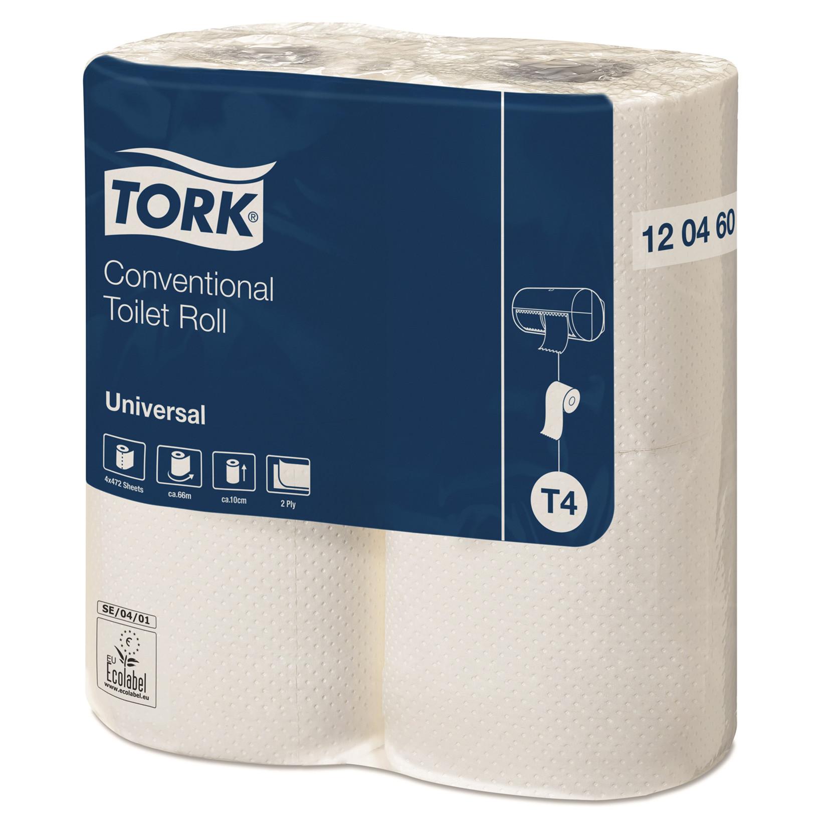 Tork 120460 Toiletpapir Universal 2 lag ekstra lang T4 - 24 ruller