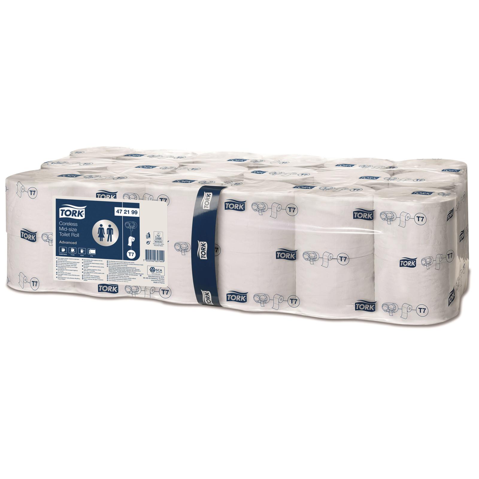 Tork 472199 Mid-size Toiletpapir Advanced uden hylse - 36 toiletruller