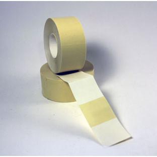 Prismærke -  29 x 28 mm hvid med  aftagelig klæber - 6 ruller