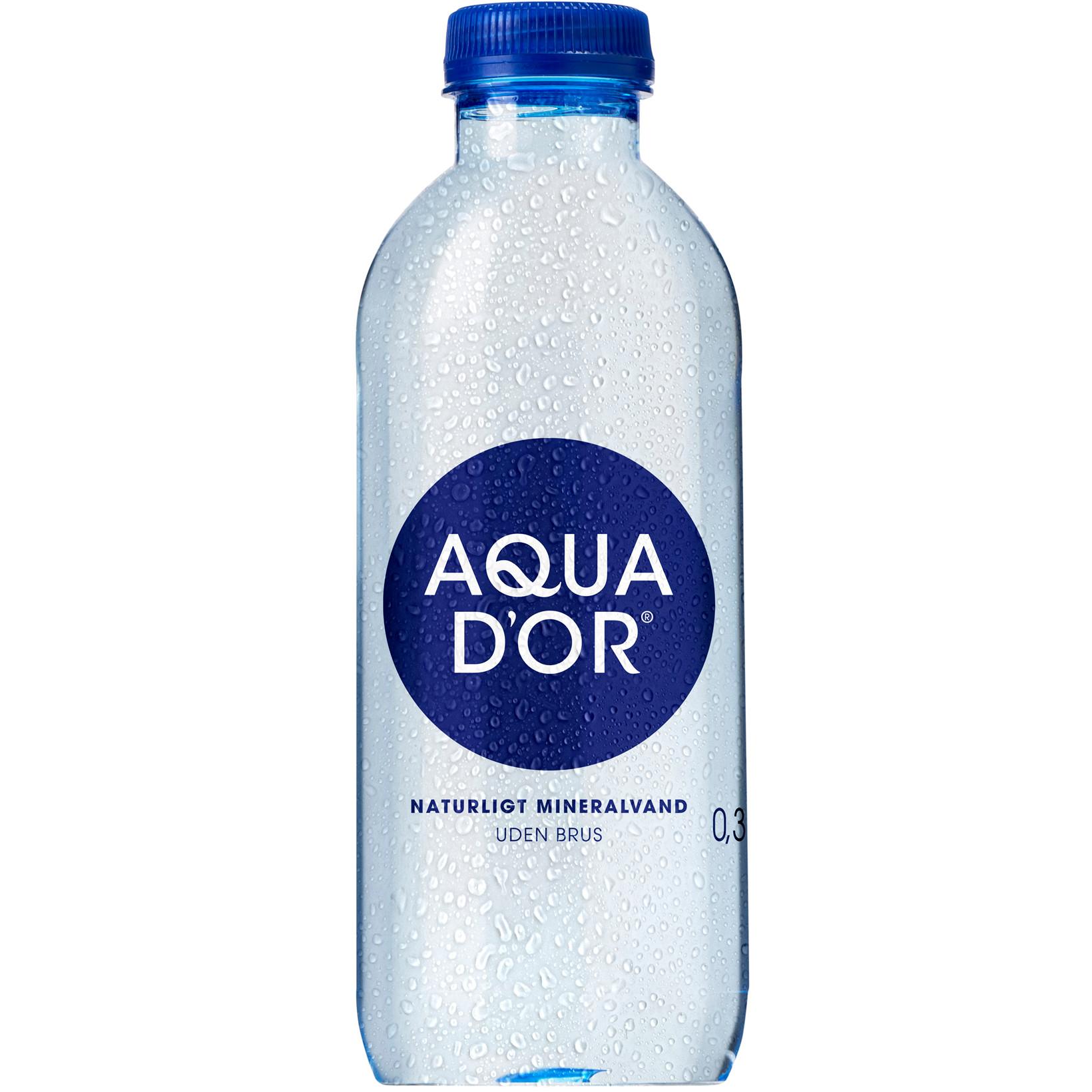 Vand Aqua D'or 30 cl i en flaske - 20 flaske - med pant 1,50 kr.