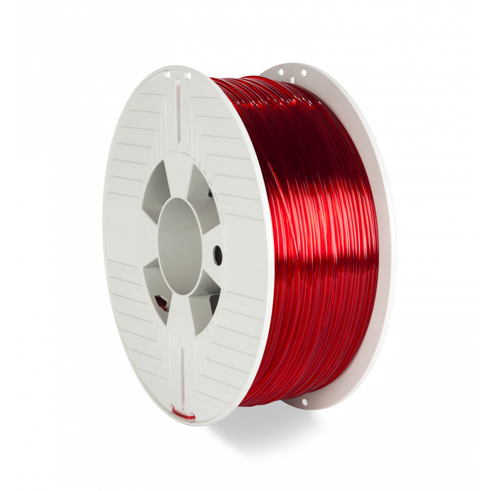 Verbatim 3D Printer Filament PET-G 1.75MM 1KG RED TRANSPARENT
