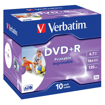 Verbatim DVD+R 16x 4,7GB printable (10)