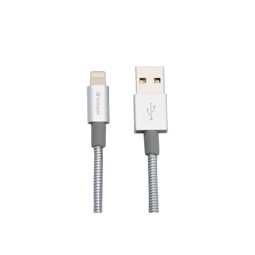 Verbatim Lightning Cable Sync & Charge 30Cm Silver