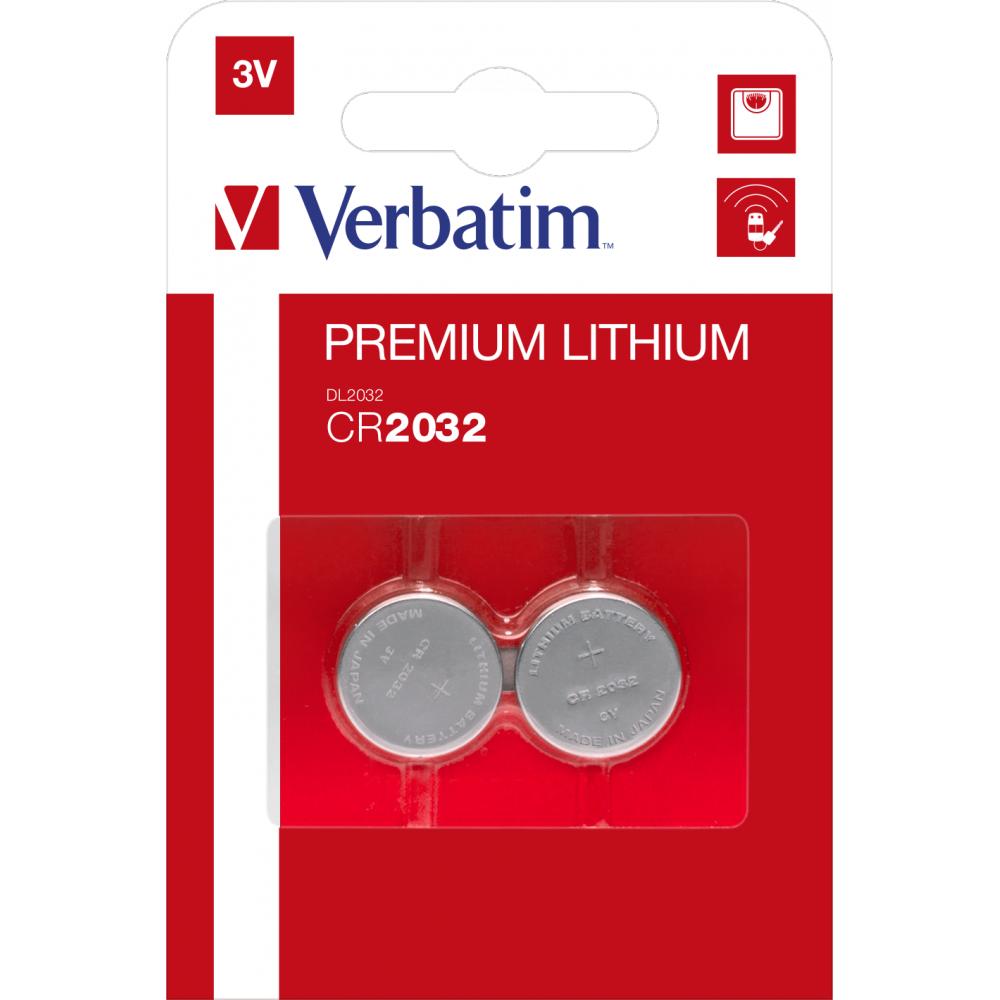 Verbatim Lithium Battery Cr2032 3V 2 Pack