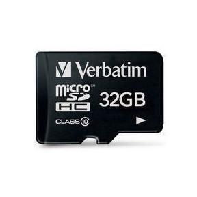 Verbatim Micro SDHC Card 32GB Class 10 with adaptor