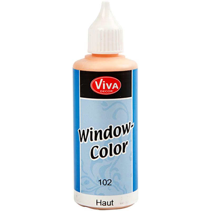 Viva Decor Window Color, lys hudfarvet, 80ml
