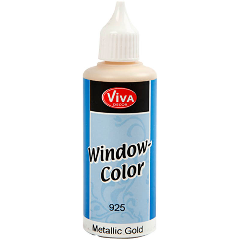 Viva Decor Window Color - metallic, guld, 80ml