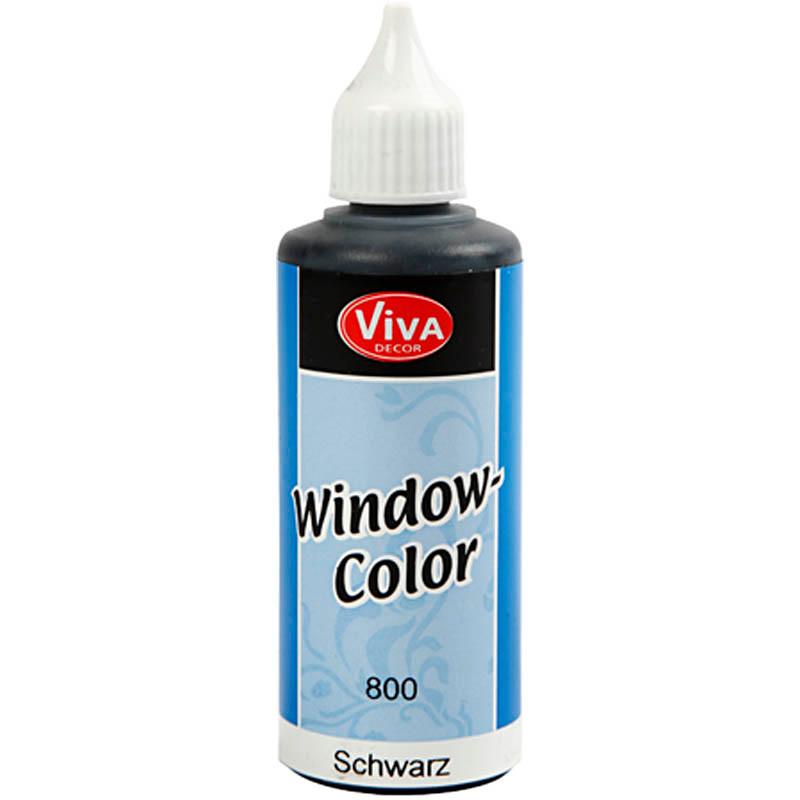 Viva Decor Window Color, sort, 80ml
