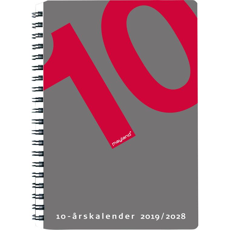 10-årskalender A5 Mayland 2019 med illustrationer 15 x 21 cm - 19 1470 00