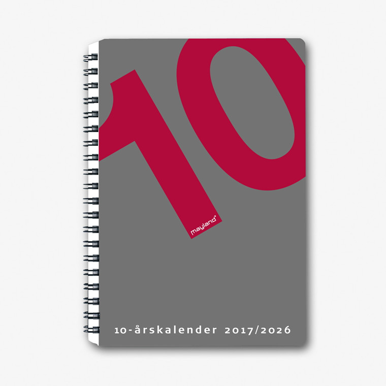 10-årskalender A5 m/illustrat. 15x21cm 1470 00