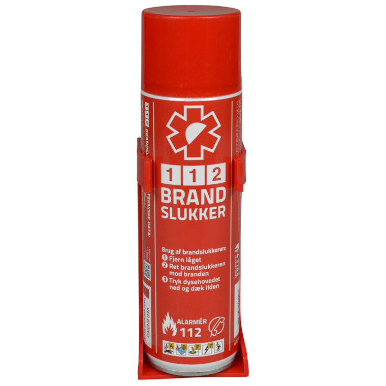 112 Brandslukker med holder - 400 ml