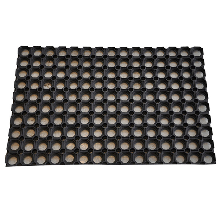 Sort Ringgummimåtte 23 mm - 60 x 80 cm