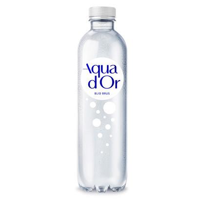 Vand Aqua D'or 50 cl blid brus - 12 flasker i en pakke - pant 1,50 kr. pr. flaske