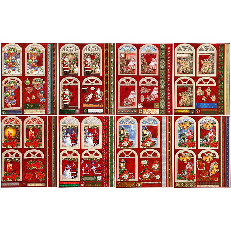 3D decoupagemærkater størrelse 24 x 19 cm jul | 16 ark