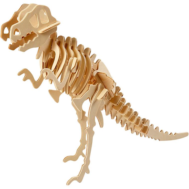 3D Puzzle, LxBxH 33x8x23 cm, krydsfiner, dinosaur, 1stk.