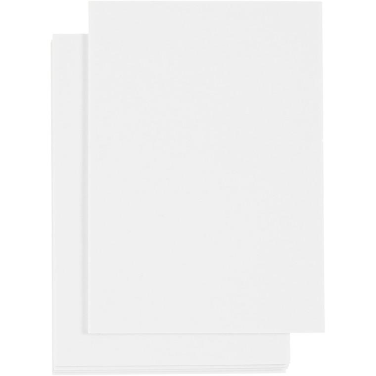 3D Skumark A6 105 x 148 mm tykkelse 2 mm hvid | 5 ark