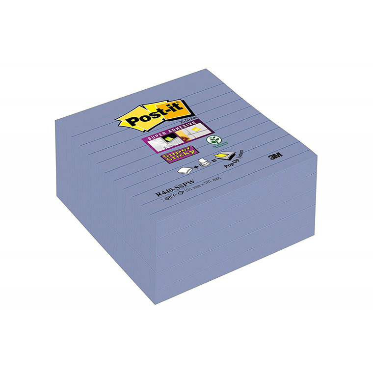 3M R440SSPW Post-it® Super Sticky Z Notes 101x101mm ruled Periw