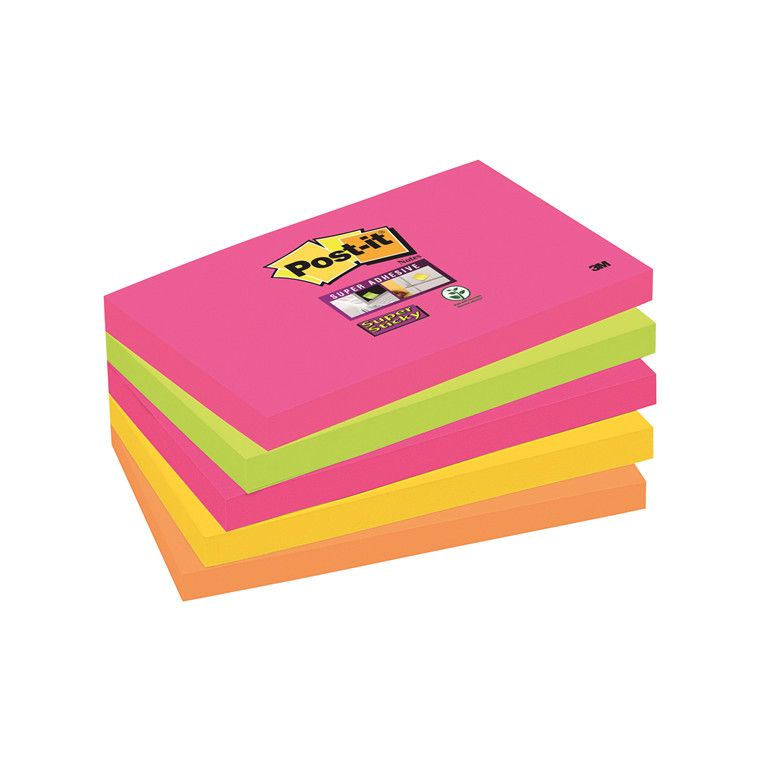 3M Super Sticky Notes Cape Town 76x127mm (5)