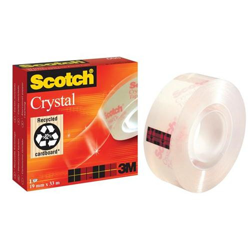 3M Tape Scotch Crystal 19mmx33m 600