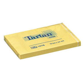 3M Tartan 12776 Notes 127x76mm yellow