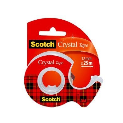 3M Tejp Scotch kristallklar 600, 25 m x 12 mm (1225D)