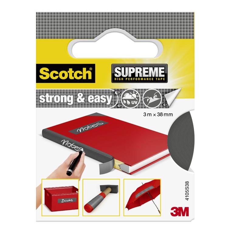 3M Tekstiltape Strong & Easy Silver 3m x 38mm
